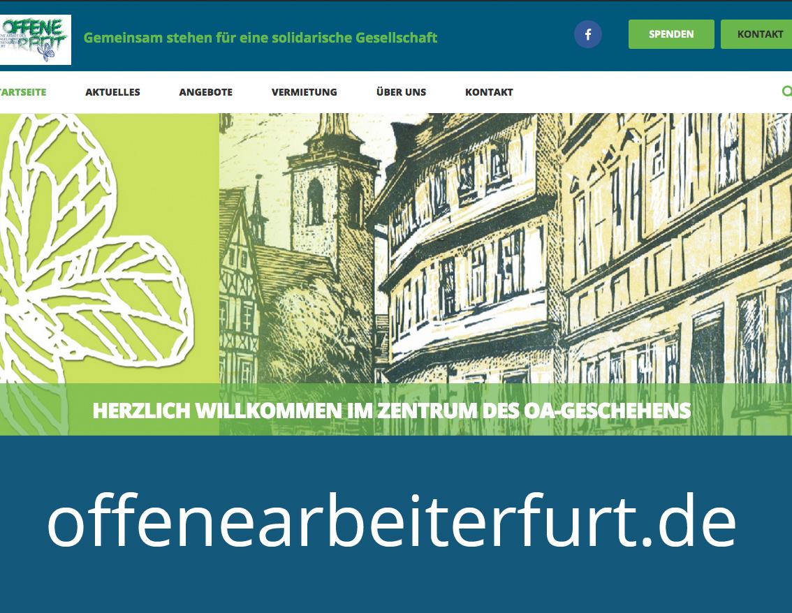 Die neue Offene Arbeit Website ist online